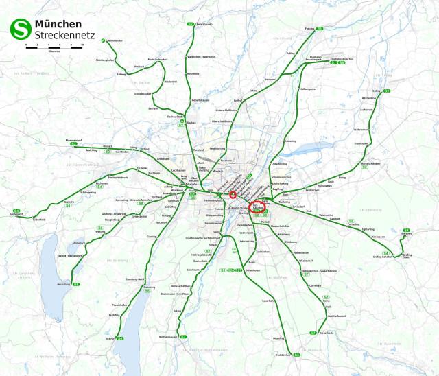 электрички Мюнхена ходят в