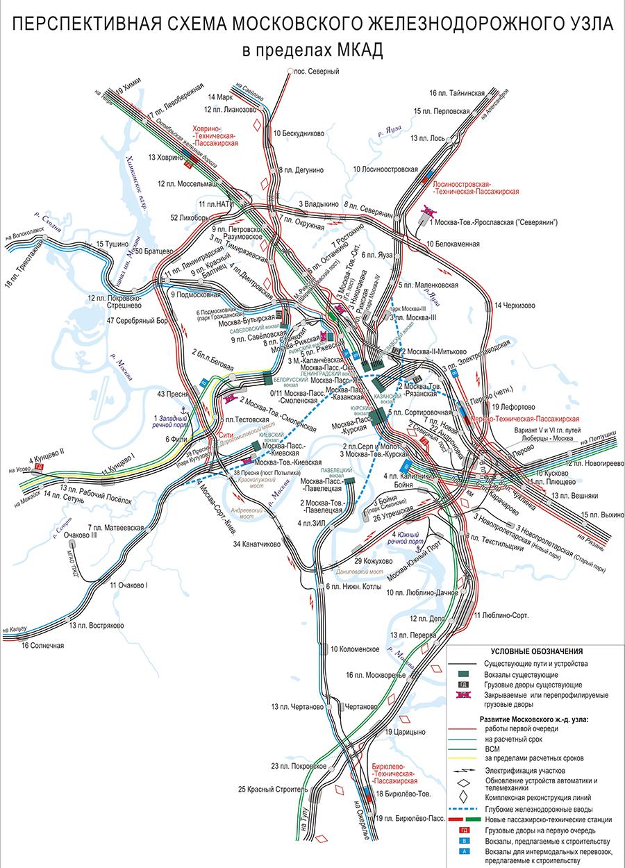 Схема железнодорожного узла свердловский