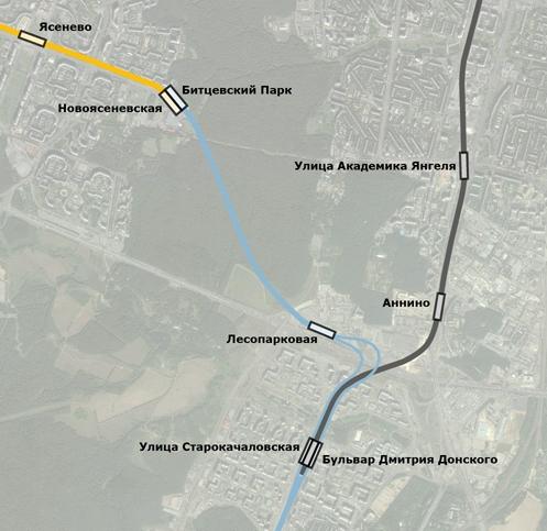 Трассировка Бутовской линии от