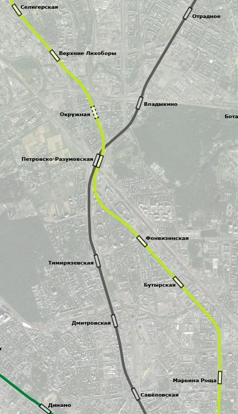 Трассировка участка ЛДЛ от ст.