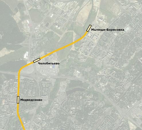 Трассировка продления метро в