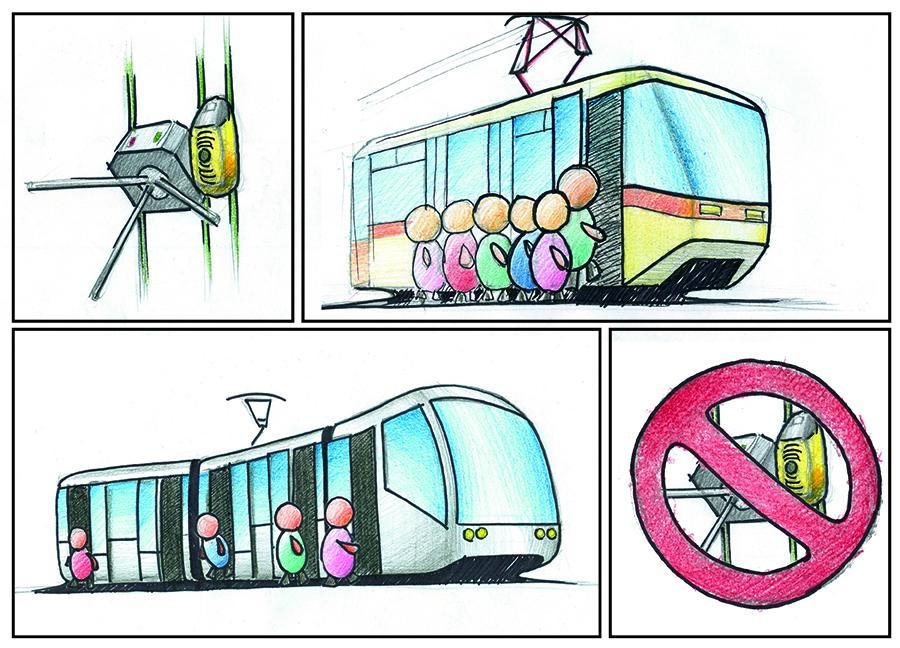 Турникеты в трамваях надо срочно убирать! tram-turn
