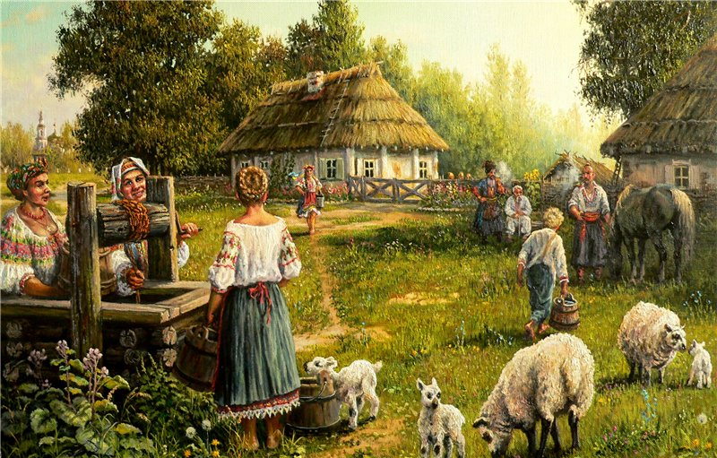 А.П.Лях. Утро на хуторе