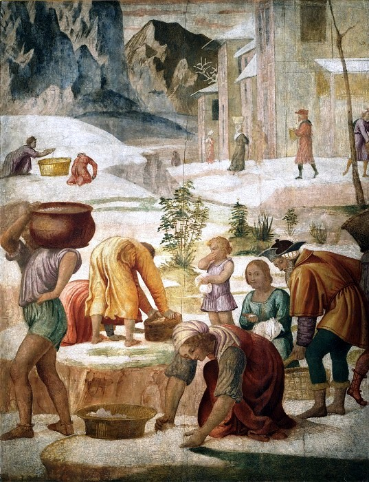 The Gathering Of The Manna (fresco from the Villa Pelucca at Sesto San Giovanni)