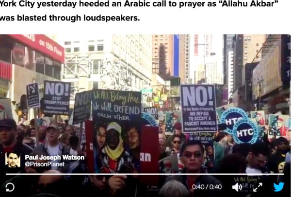 Мусульманское шествие в Нью-Йорке
