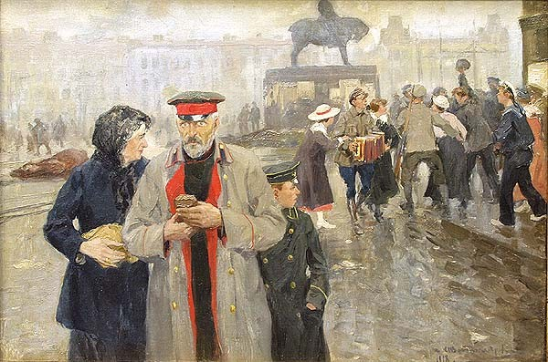 Иван Владимиров, 1918 На лицах Петрограда