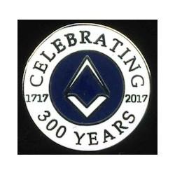 300-years-tercentenary-lapel-pin