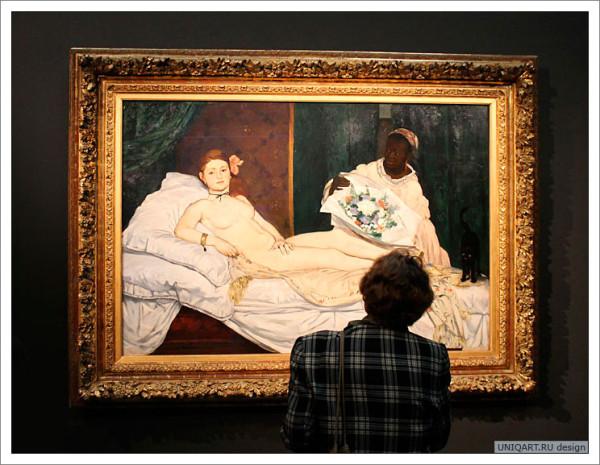 картина олимпия эдуарда мане, выставка пушкинском музее изобразительных