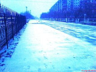 Снег в апреле. Утро
