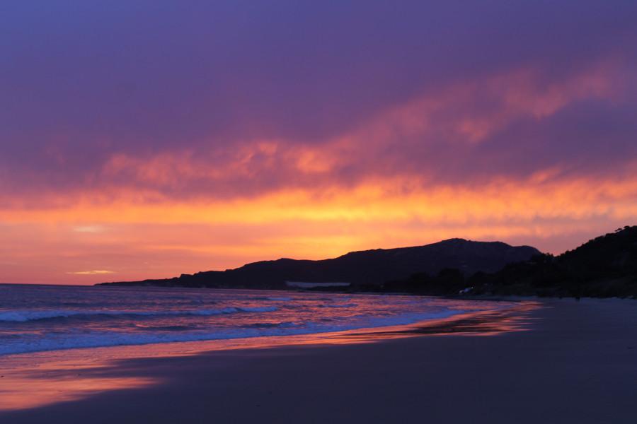 Закат на побережье Атлантики