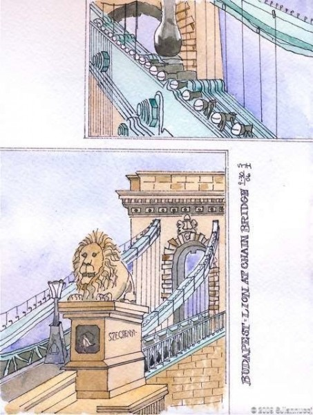 chain bridge - budapest - journal 6wtmk