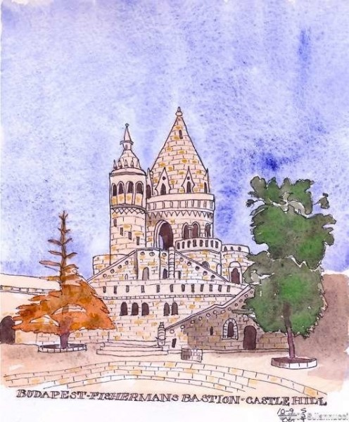 fishermans bastion castle hill - budapest - journal 6wtmk