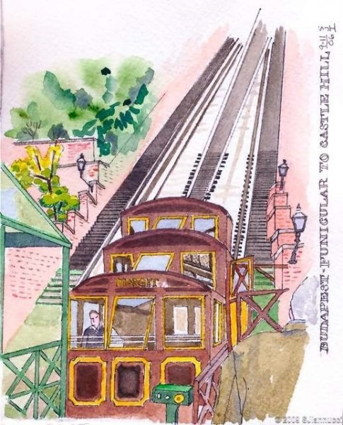 funicular to castle hill - budapest - journal 6wtmk