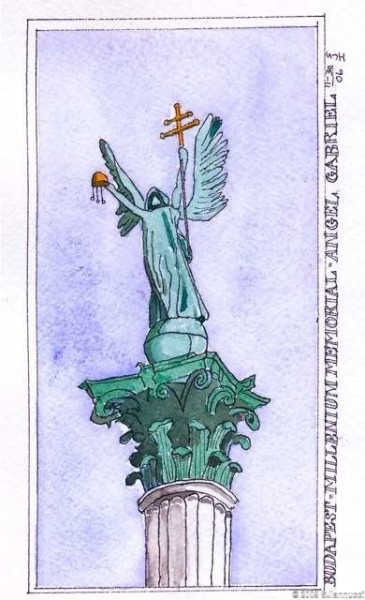 millennium memorial angel gabriel - budapest - journal 6wtmk