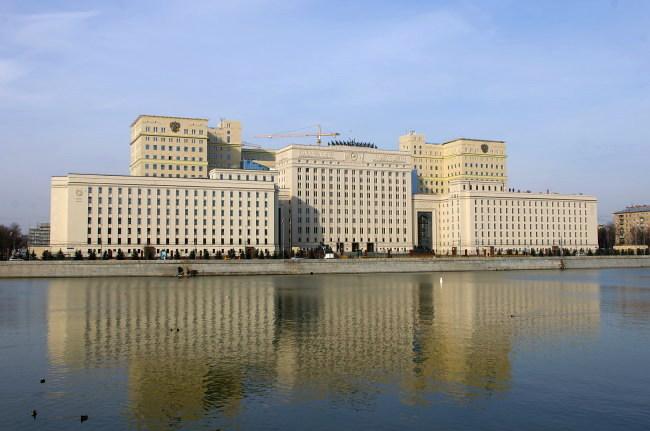 Здание Министерства обороны горит в центре Москвы
