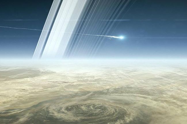 Перед смертью зонд Кассини сказал наЗемлю последние кадры соспутником Сатурна