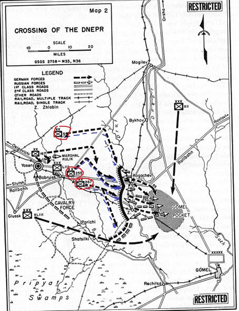 Наступление 255 ПД Вермахта на Рогачев в июле 1941 г.