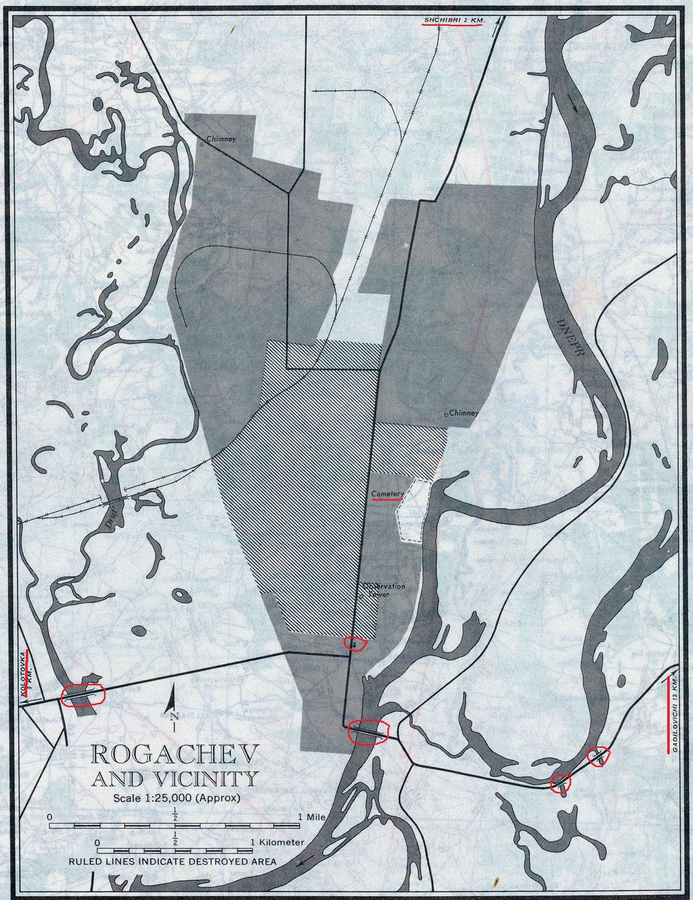 Довоенный план Рогачева