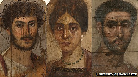 Faces of Egyptian mummies on show in Manchester