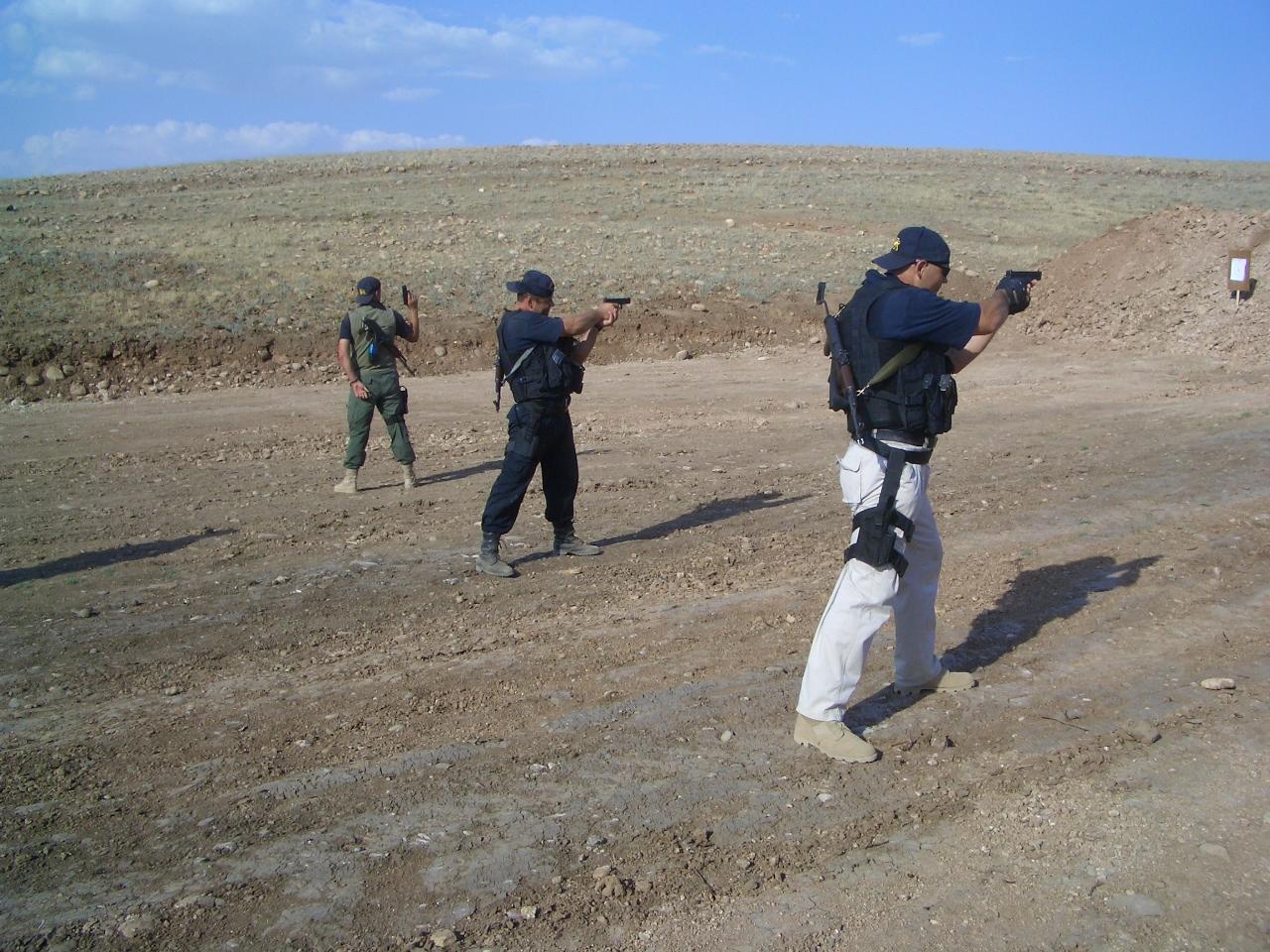 On rifle range