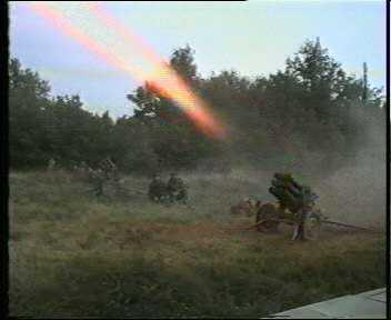 5th corps artilery in action