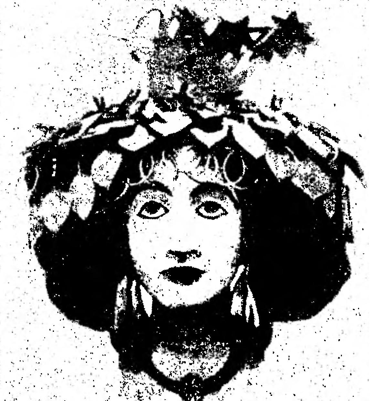 Головной портрет царицы Шубад