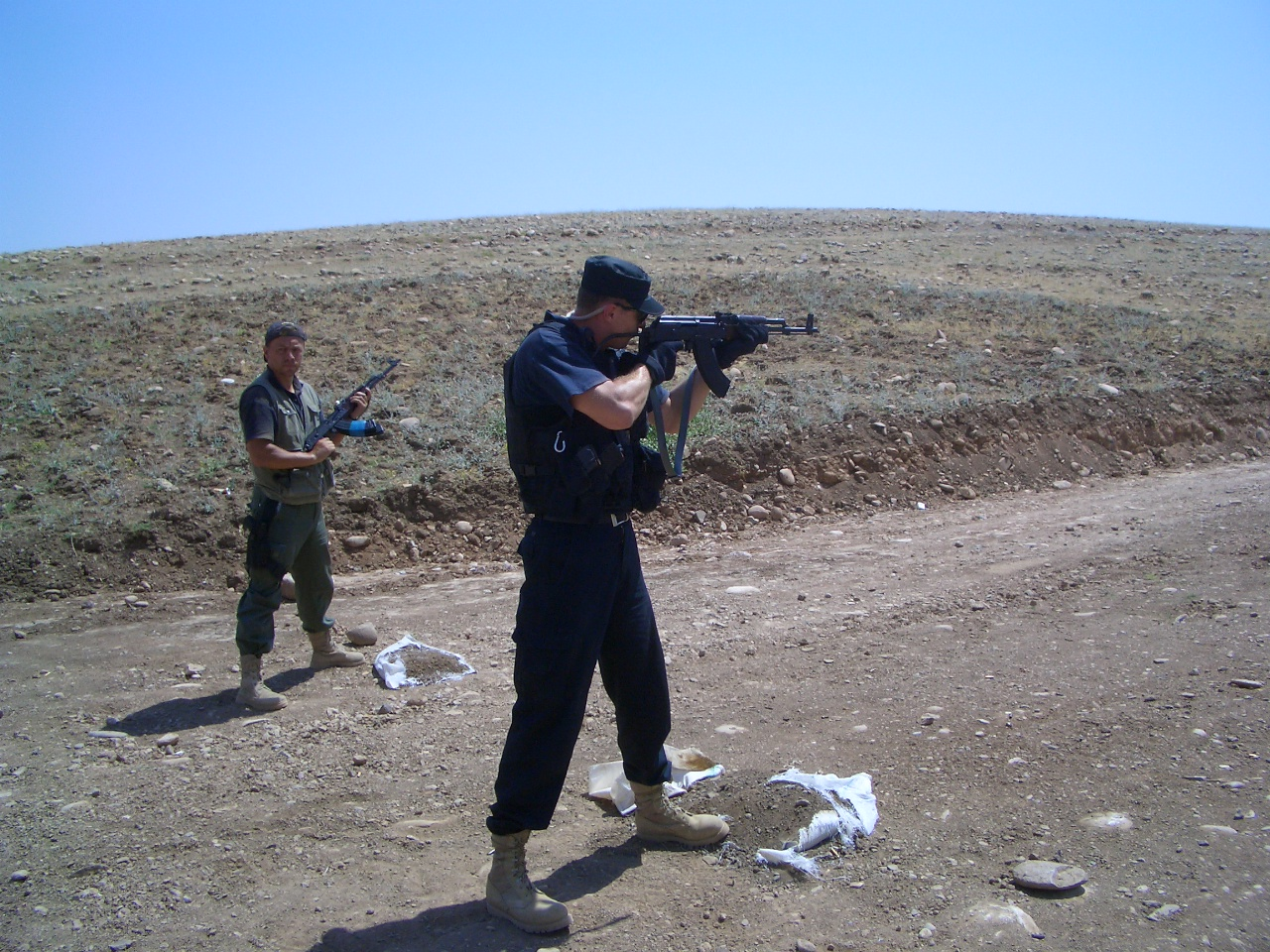 Oleg and Kosta on rifle line