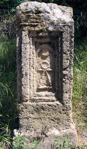 Камень с символом богини Танит