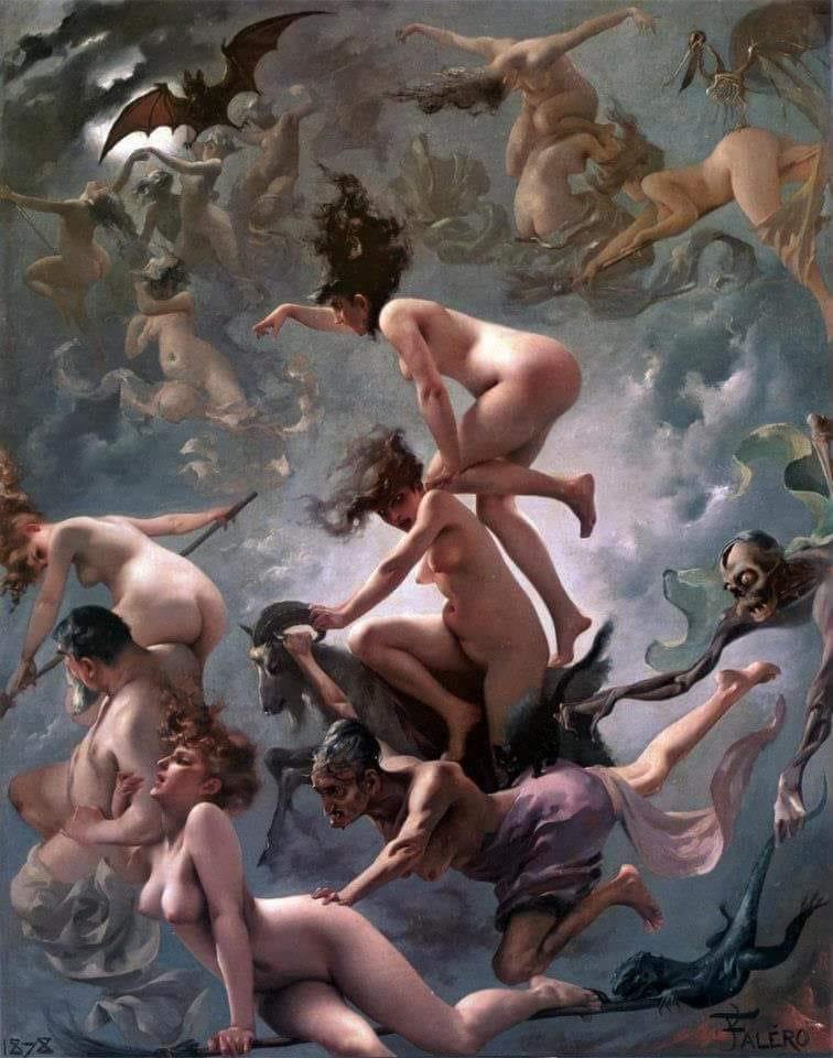 Луис Рикардо Фалеро.Ведьмы в пути на шабаш. 1878.