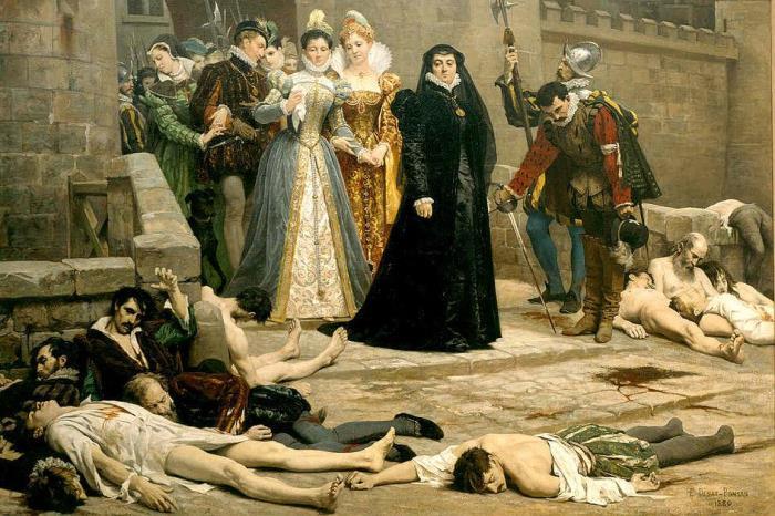 Екатерина Медичи.Эдуард Деба-Понсан. Утро около ворот Лувра, 1880.