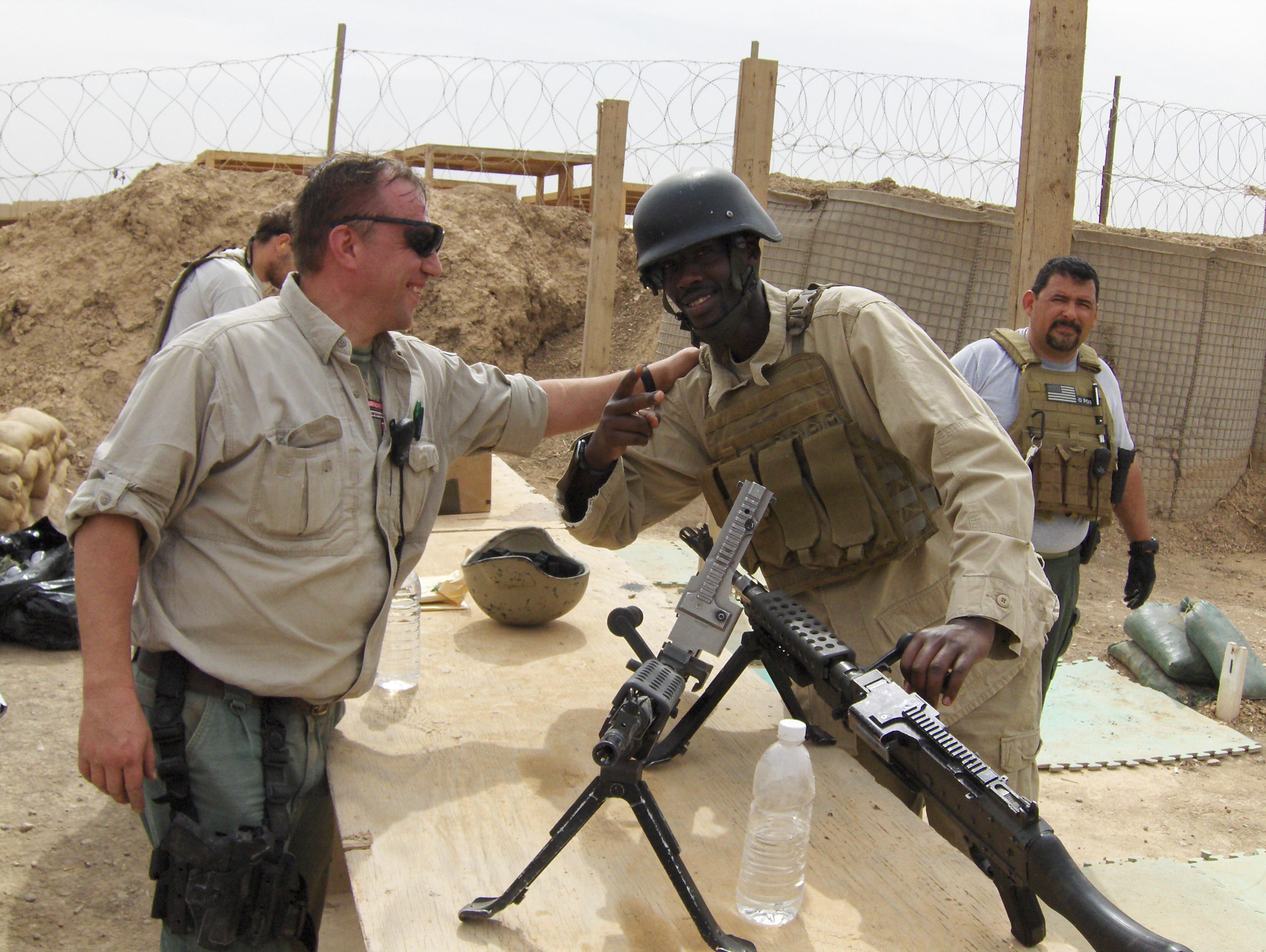 Oleg and David and machineguns