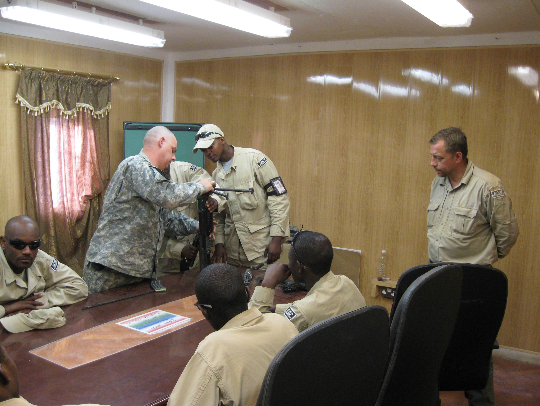 Training for M 249 SAW.Mahmudiyah