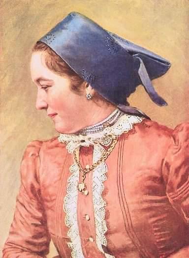 Дунайская немка в национальной одежде