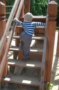 лестница со ступеньками