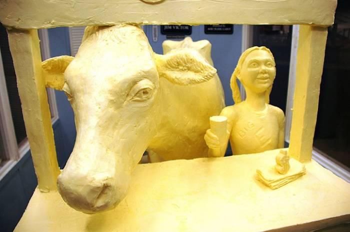 Скульптуры из сливочного масла