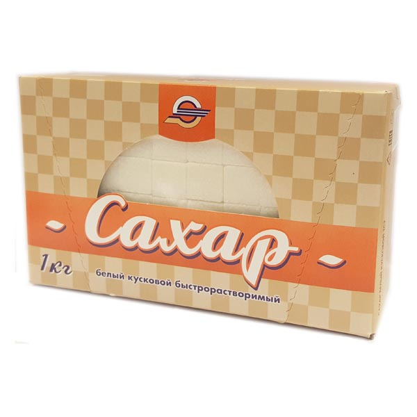 Сахар рафинад «МОССАХАР» в коробке с окошком ( 1х1кг )
