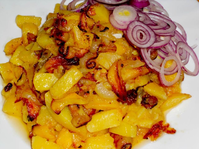 картошка жареная с салом рецепт с фото