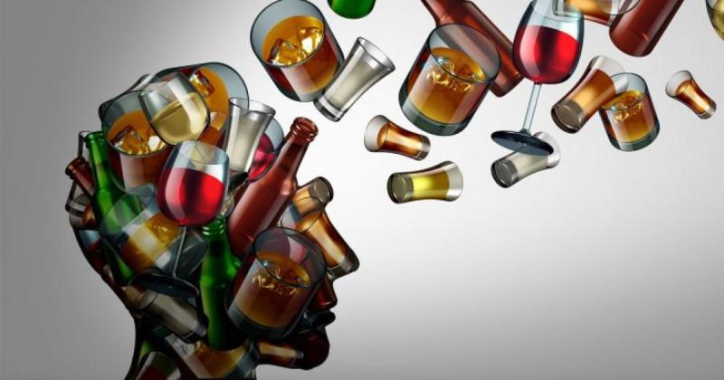 голова алкоголика