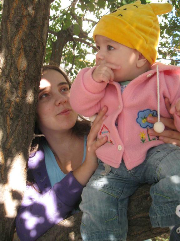 Наташа с племянником Димой.