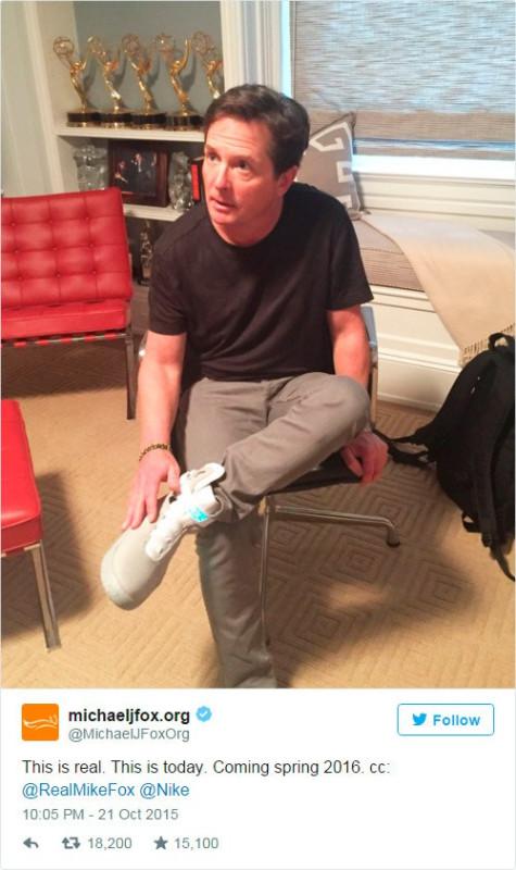 Настоящие кроссовки из Назад в будущее