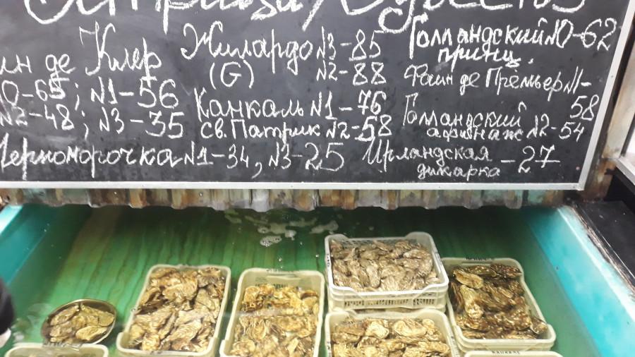 Рыбный ряд на Столичном рынке в Киеве 20190223_102151