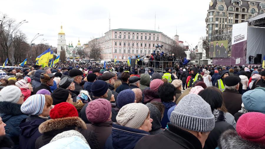 Выступление Президента Украины П. Порошенко в Киеве, фоторепортаж 20190317_105650