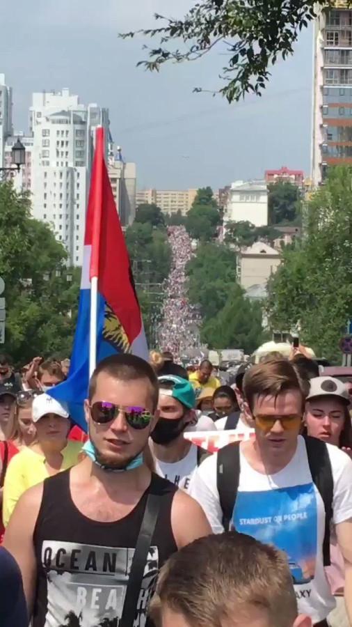Протесты в Хабаровске: все продолжается, и еще больше, чем было!