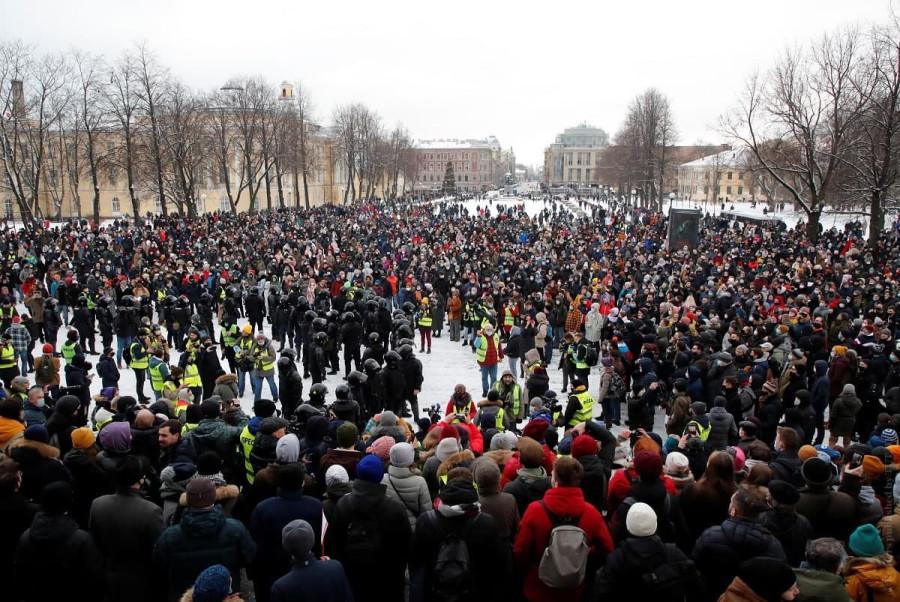 Россия будет свободной: протесты в Москве и Санкт-Петербурге