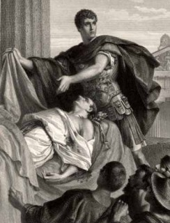 Марк Антоний над умирающим Цезарем