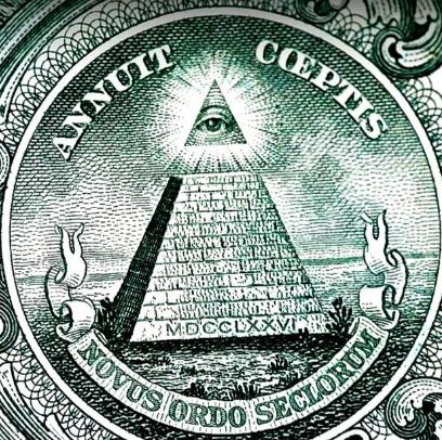 1776 римскими цифрами под пирамидой