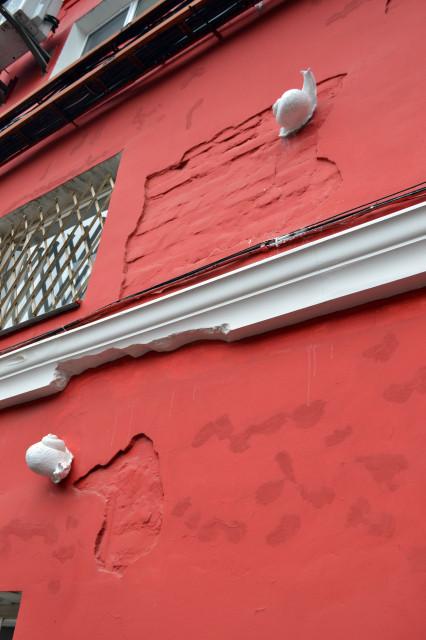 Улитки на фасаде