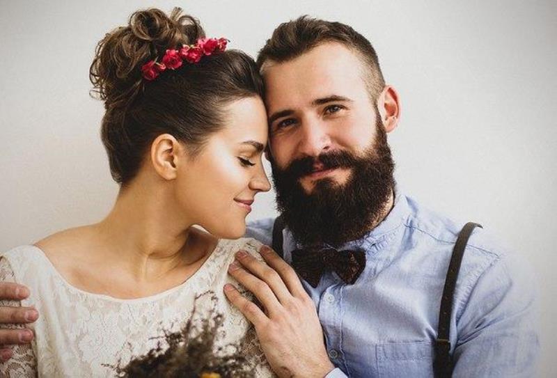Тортом чаем, картинка девушка и мужчина с бородой