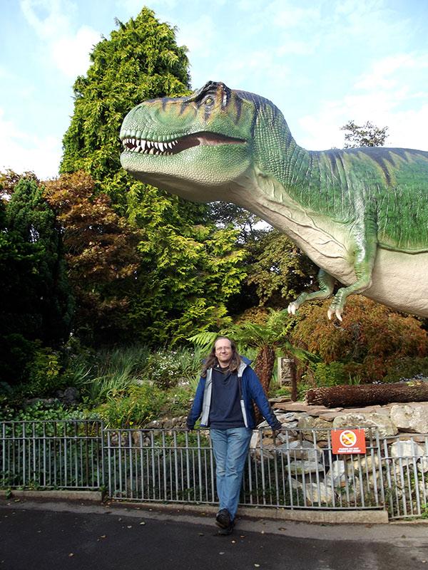 Patrick, with Tyrannosaur