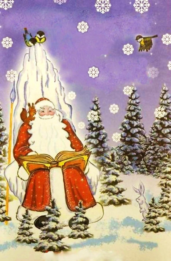 дед мороз и книга